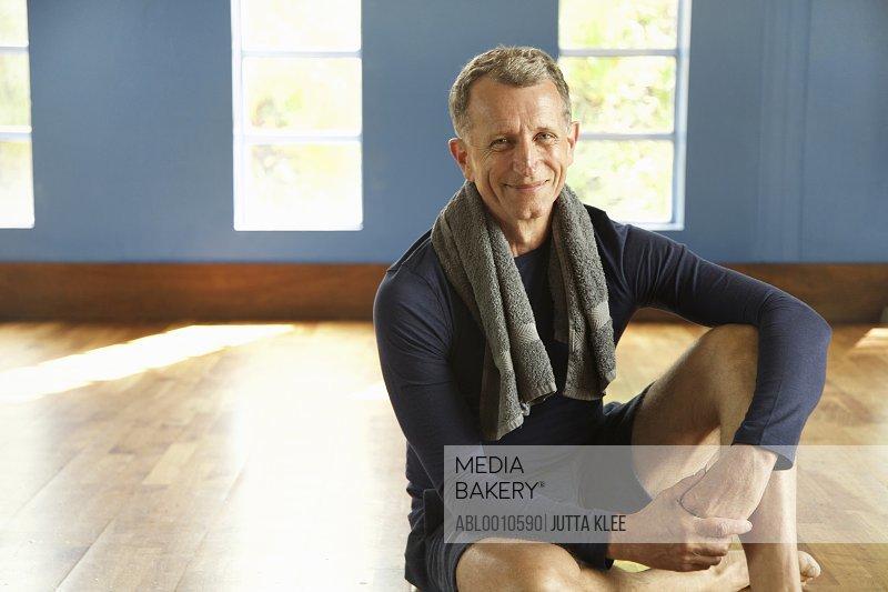 Portrait of Mature Man at Gym