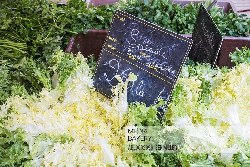 Escarole Salad on Sale in France