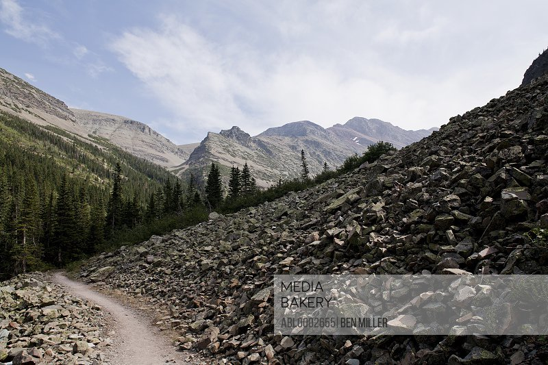 Mountain Trail, Glacier National Park, Montana, USA