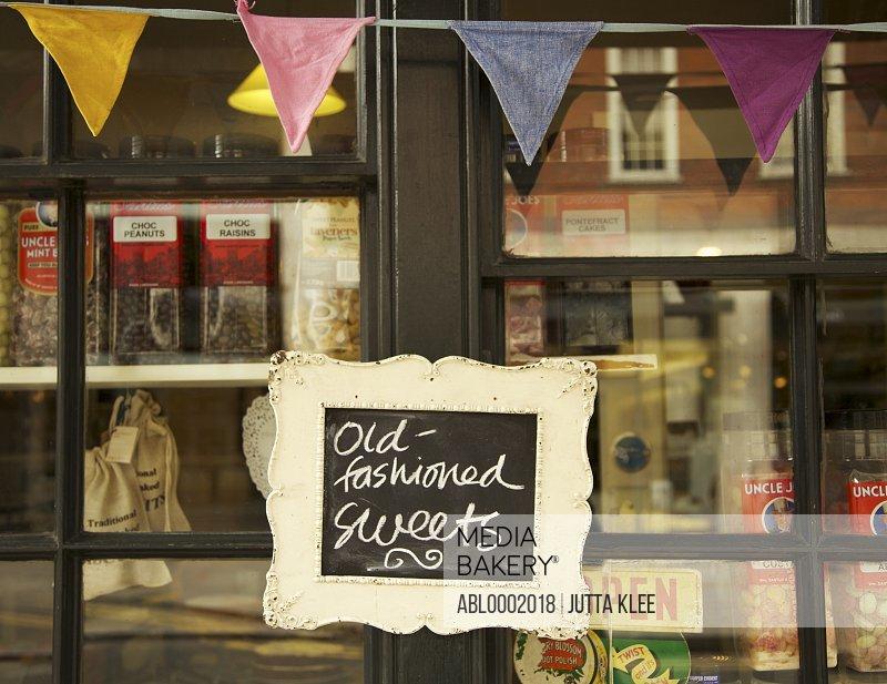 Sign on Shop Window