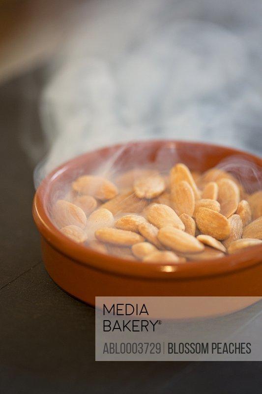 Almonds Roasting in a Ramekin