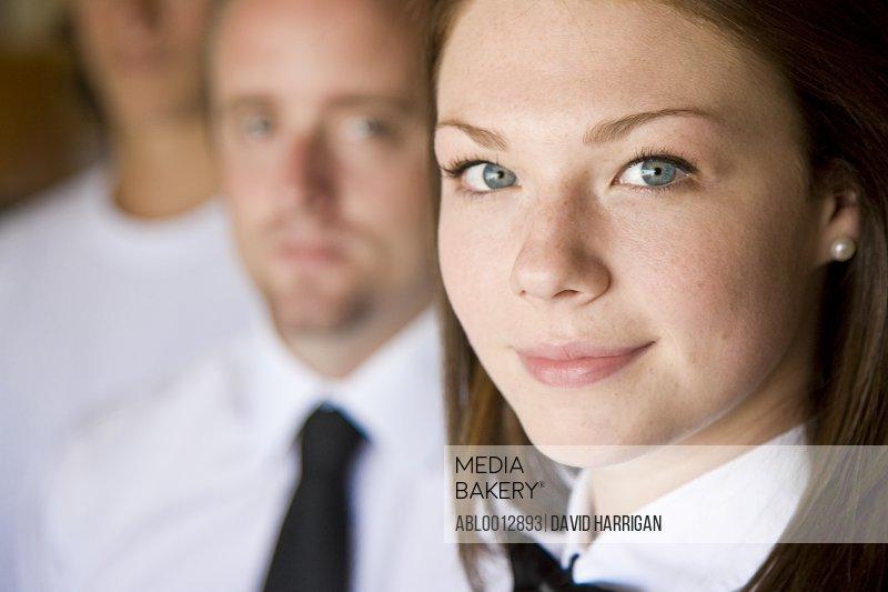 Close up portrait of a waitress