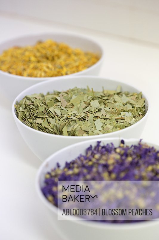 Bowls of Dried Herbs