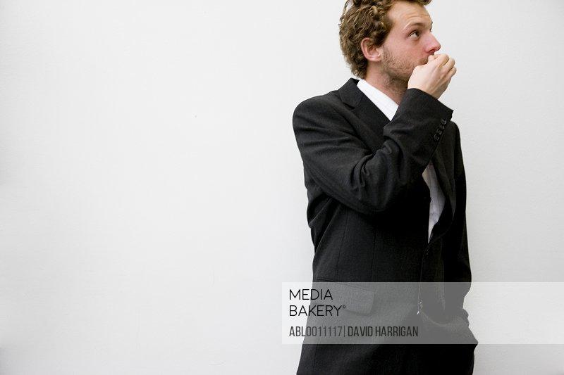Portrait of businessman waiting