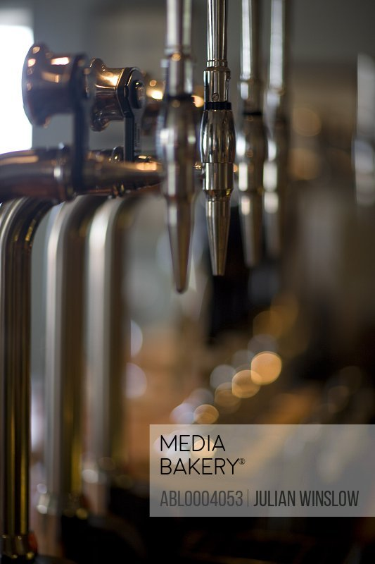 Close up of beer pumps