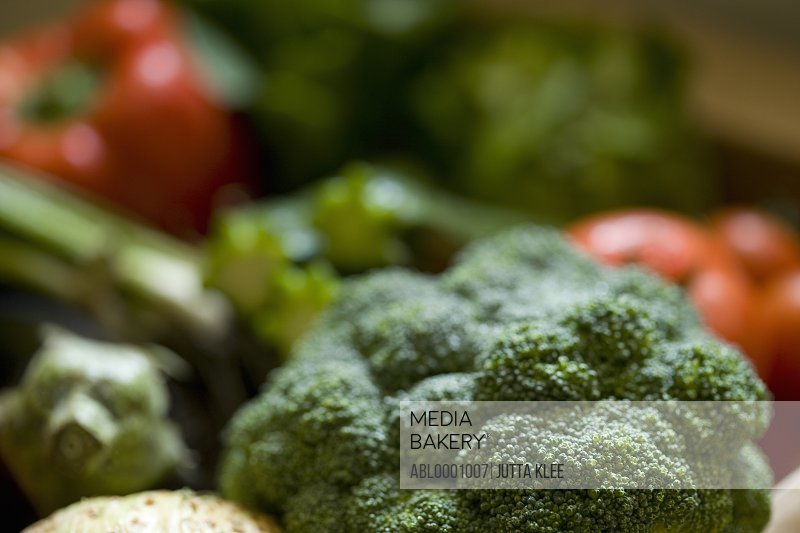 Close up of organic vegetables