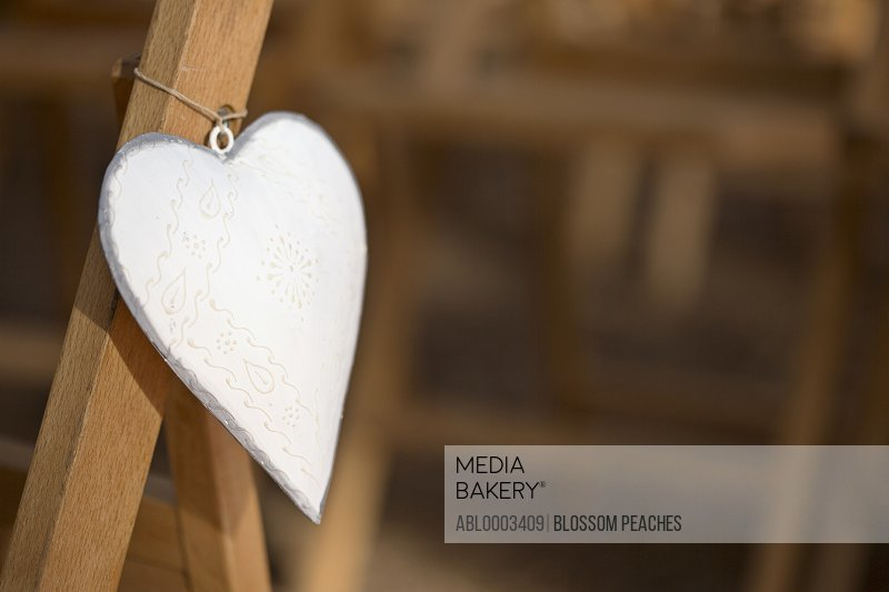 Heart Shaped Decoration Hanging from Chair