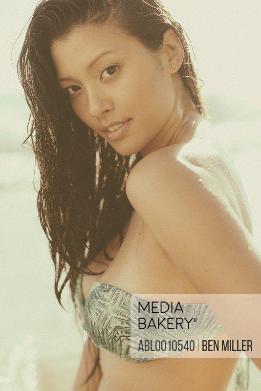 Close up of Young Woman Wearing Bikini