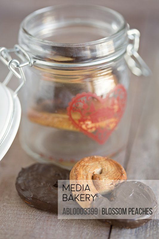 Chocolate Palmiers and Cookie Jar