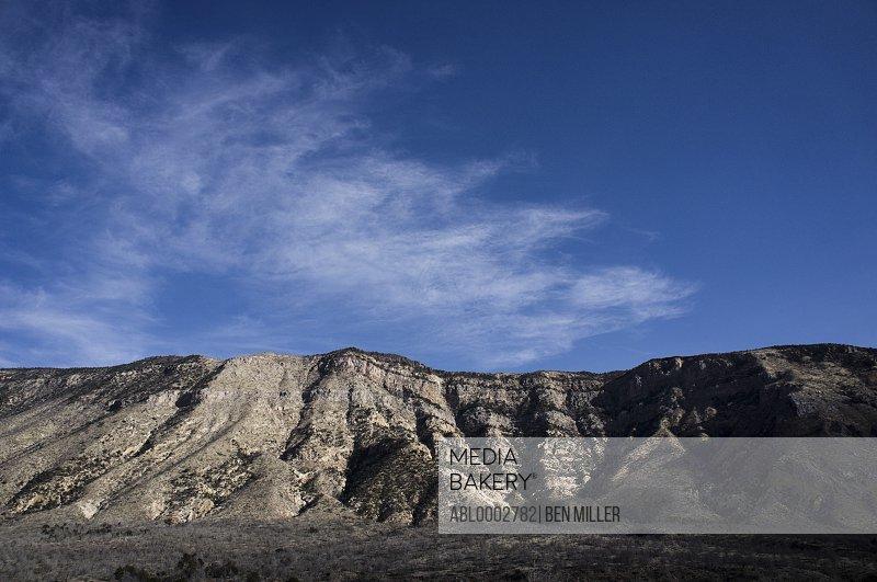 Mountain against Blue Sky