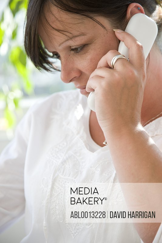 Woman on Cordless Telephone