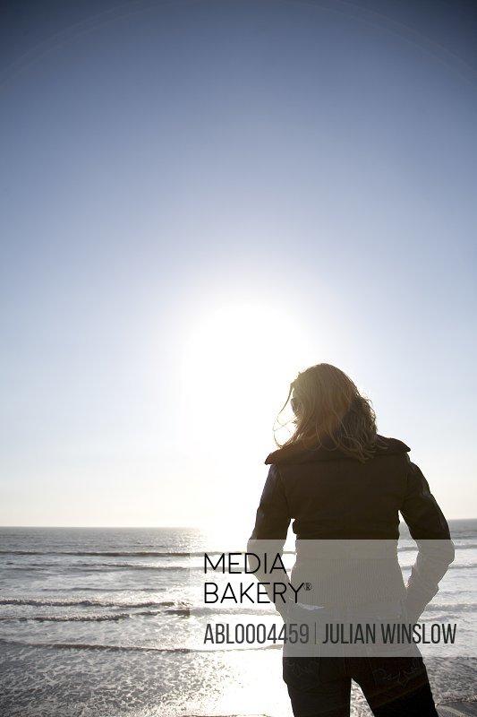 Young woman enjoying the ocean view