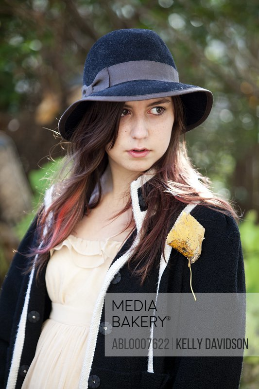 Teenage Girl Wearing Floppy Hat