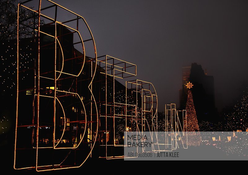 Christmas Light Illuminations in Berlin, Germany
