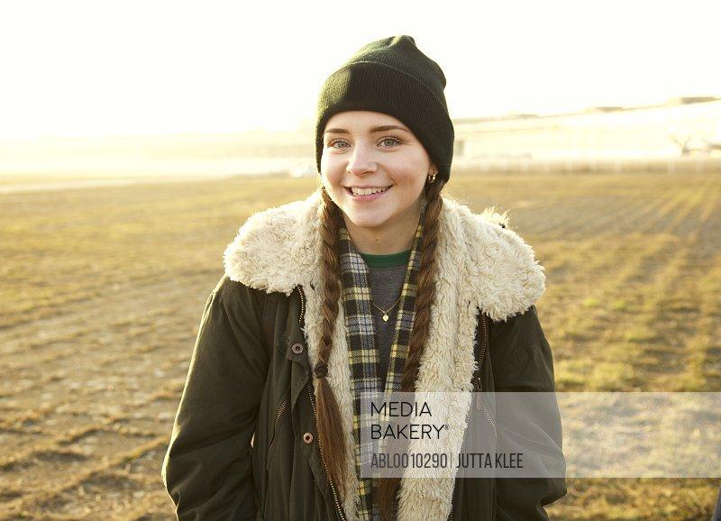 Portrait of Teenage Girl Outdoors