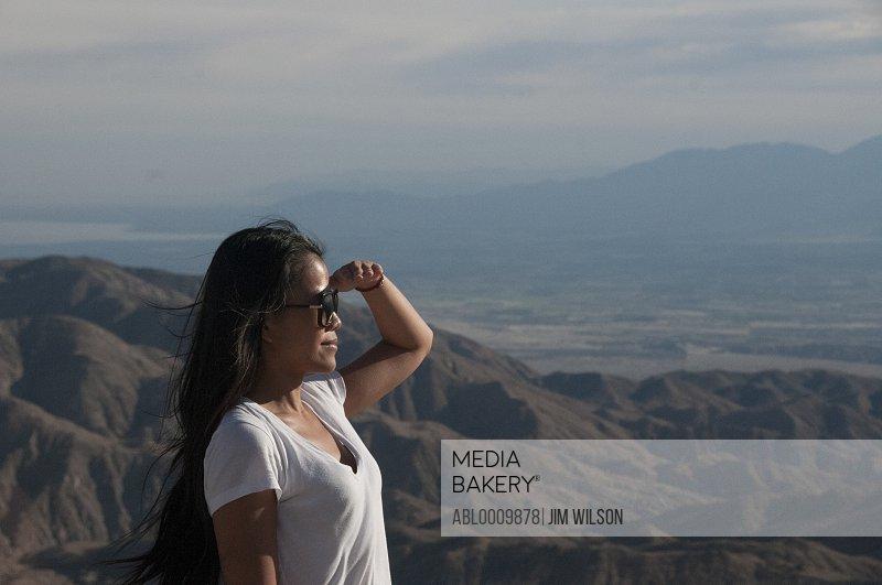 Woman Admiring View, Joshua Tree National Park, California, USA