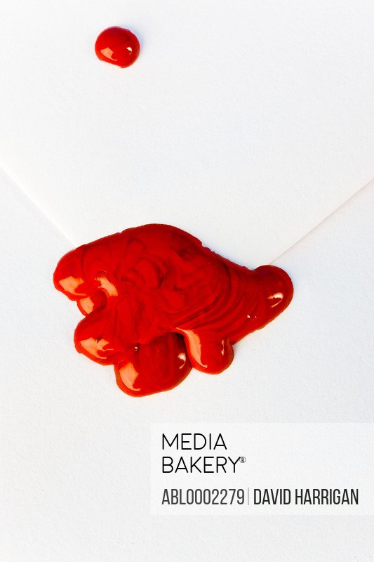 Red Sealing Wax on White Envelope