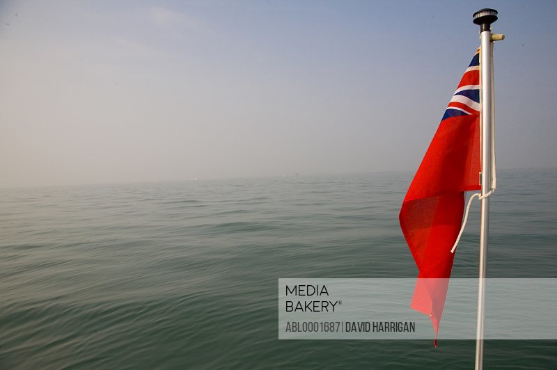 British maritime flag at sea