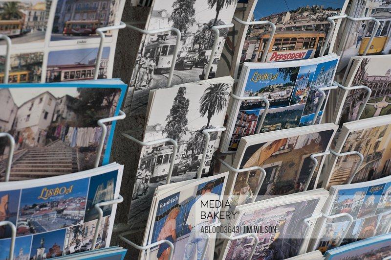 Postcards of Lisbon on Display