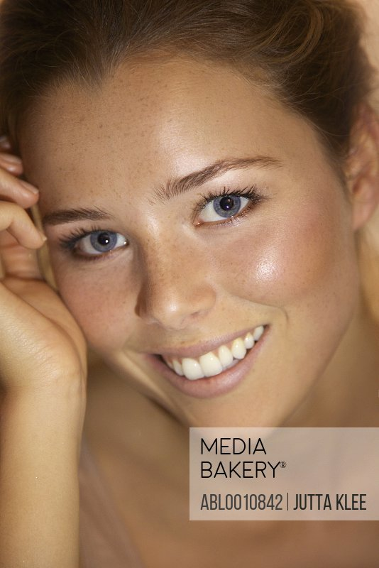 Close up Portrait of Young Woman Smiling