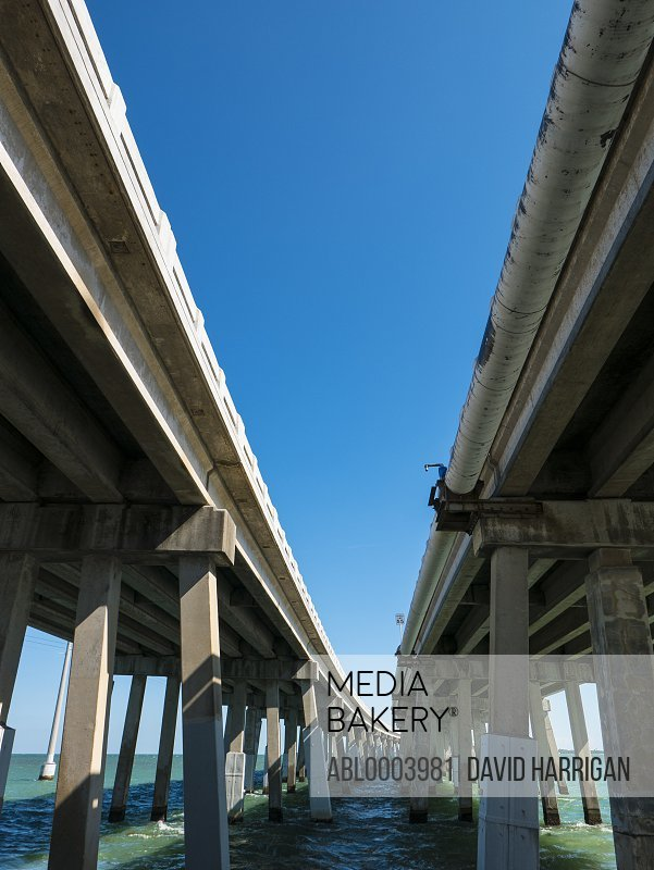 Concrete Bridge on U.S. Highway 1, Florida, USA, Low angle view