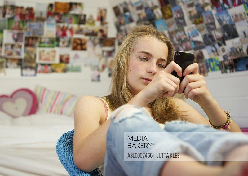 Teenage Girl Using Smartphone