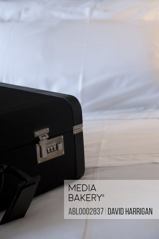 Close up of Suitcase on Bed