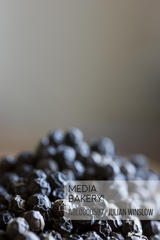 Close up of pile of black peppercorn