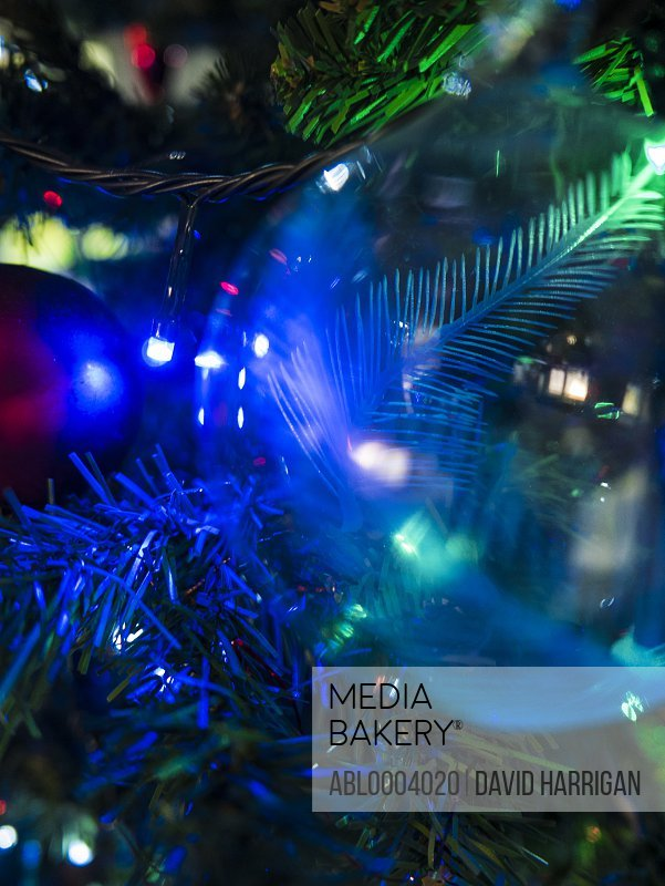 Extreme close up of Christmas Bauble