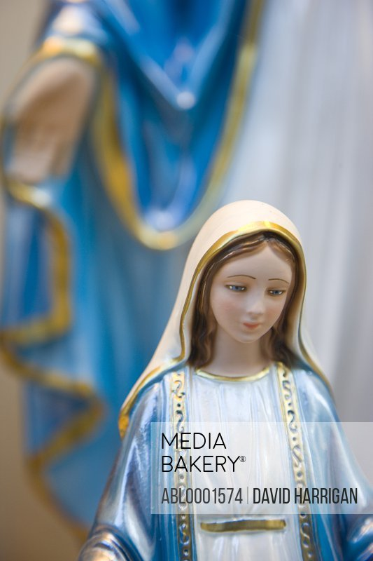 Virgin Mary porcelain figurine