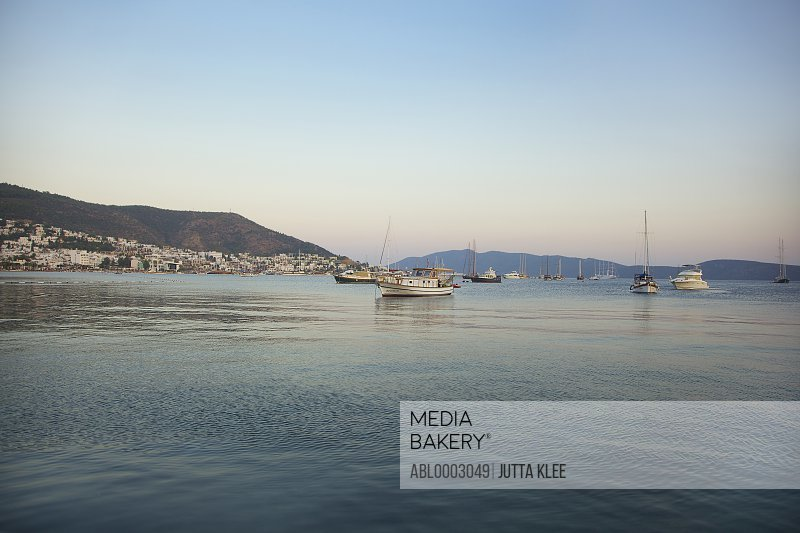 View of Bodrum Bay, Bodrum Peninsula , Turkey