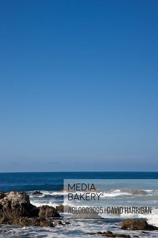 Waves on Rocky Coastline