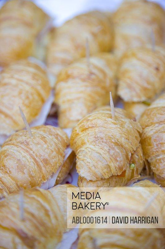 Close up of mini croissants