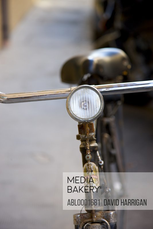 Close up of an old bicycle