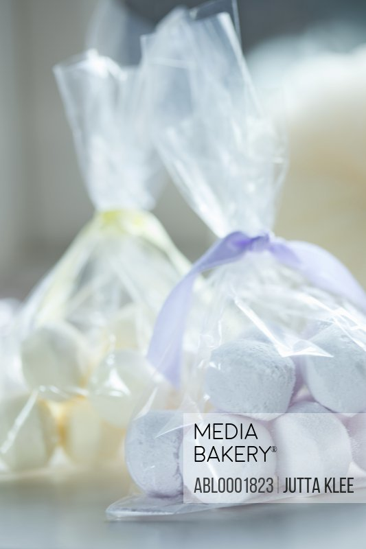Close up of two parcels of bath salts bombs
