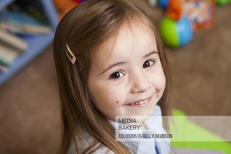 Portrait of Young Girl Smiling