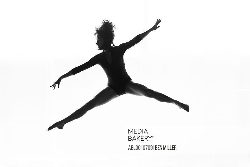 Female Dancer Leaping Mid air