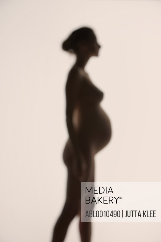 Silhouette of Pregnant Woman, Side view