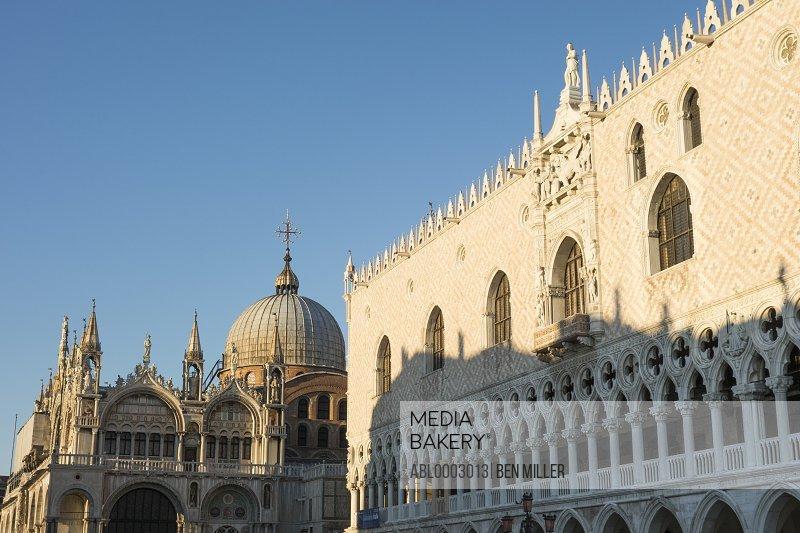 Doge's Palace and St. Mark's Basilica, Venice, Italy