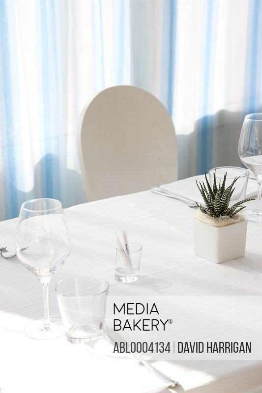 Place Setting on Restaurant Table