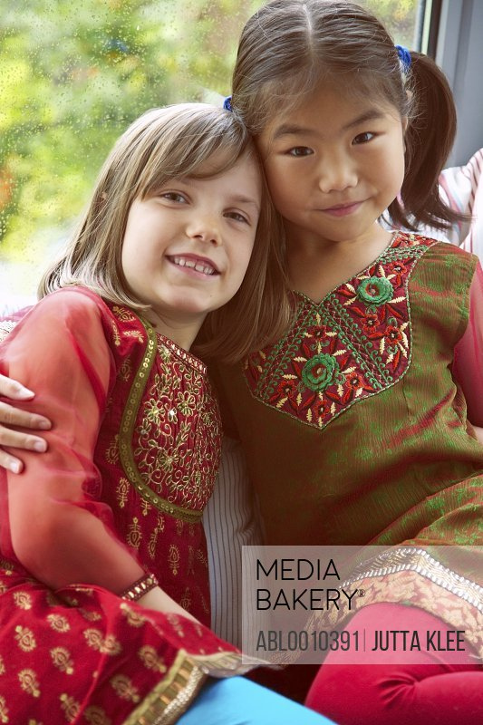 Portrait of Two Young Girls (6-7 years)