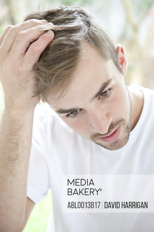Portrait of Concerned Man