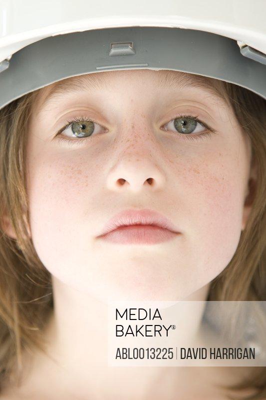Girl Wearing Hard Hat