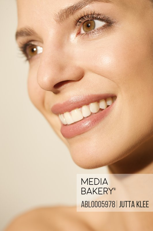 Close up Portrait of a woman smiling