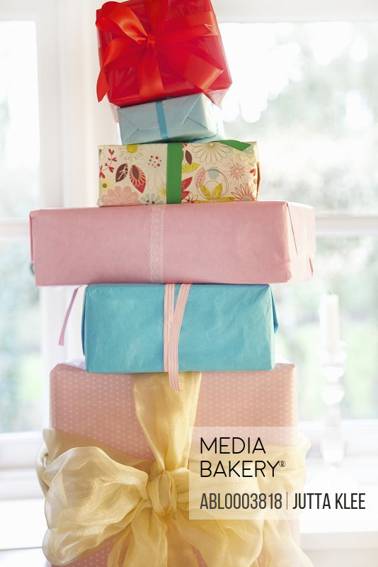 Stack of Wrapped Gift Boxes