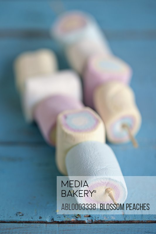 Multicoloured Marshmallows on Skewers