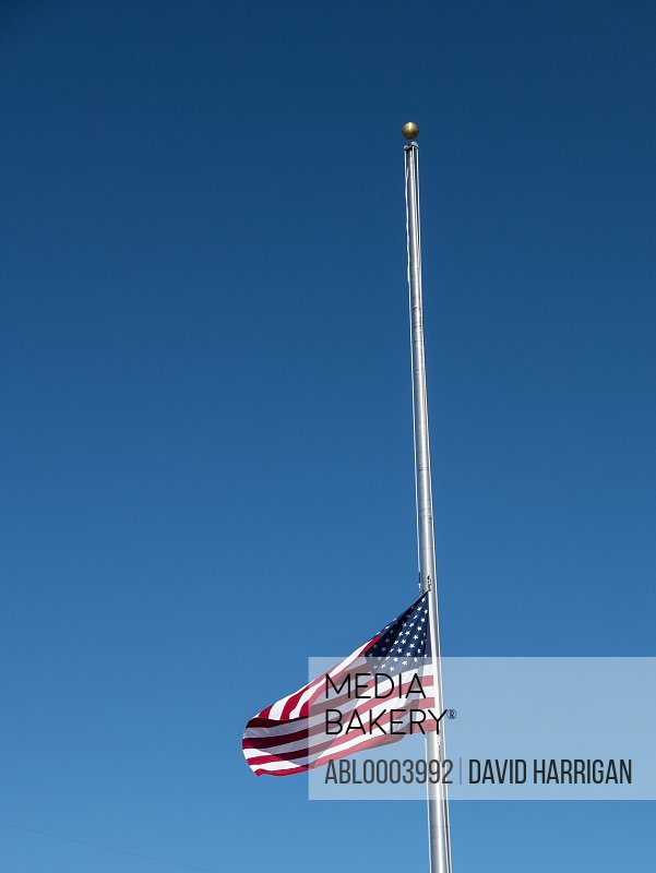 American Flag Flying at Half Mast