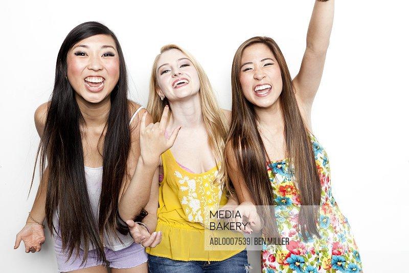 Teenage Girls Cheering