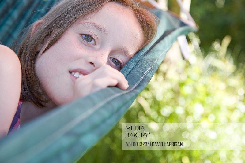 Girl Lying on a Hammock