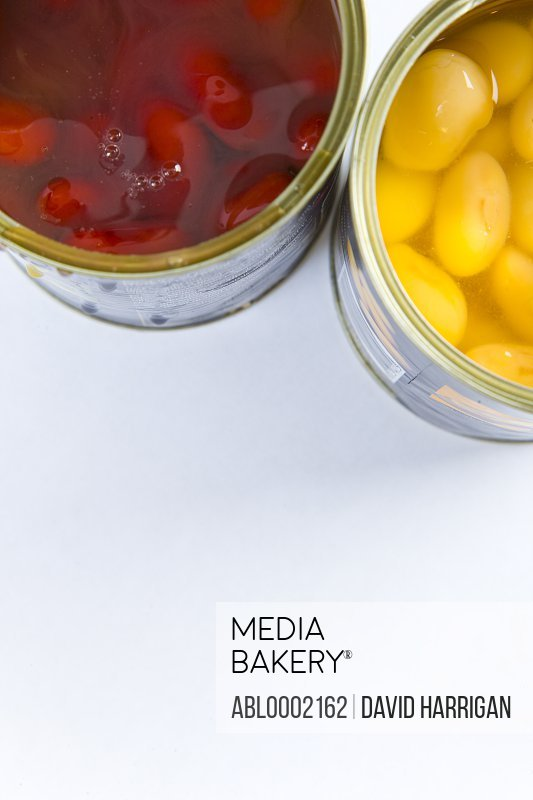 Canned Beans - High angle view